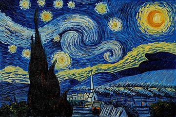 ونسان ون گوگ - شب پر ستاره